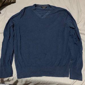 J Crew mavy blue v neck sweater